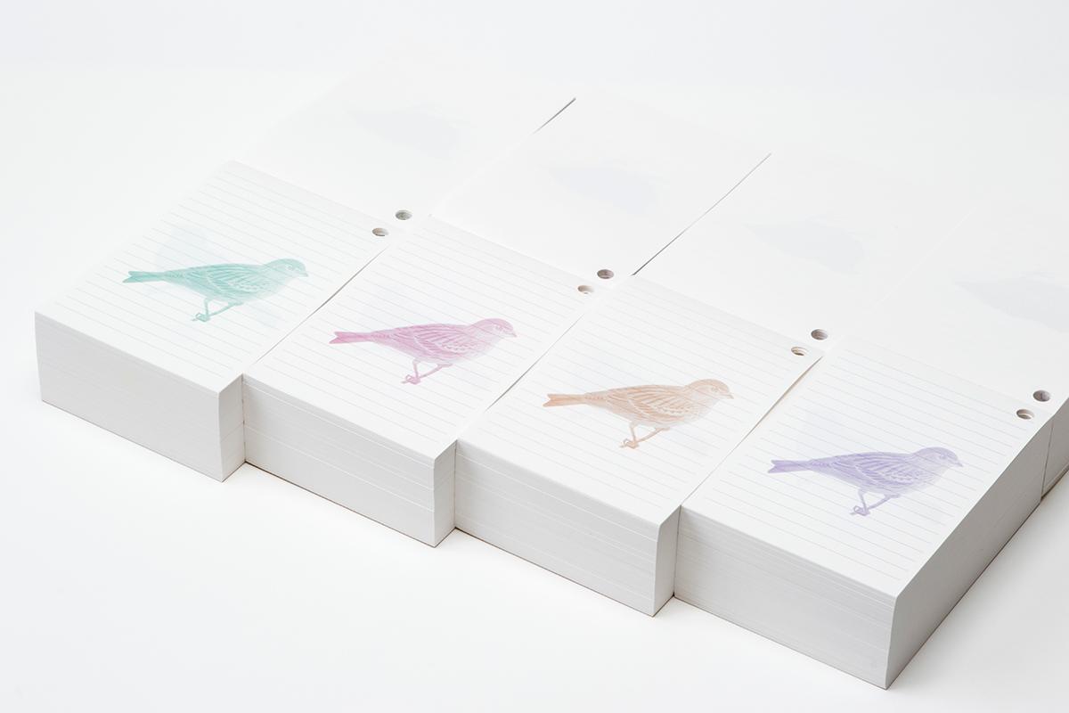 鳥ブロックメモ帳